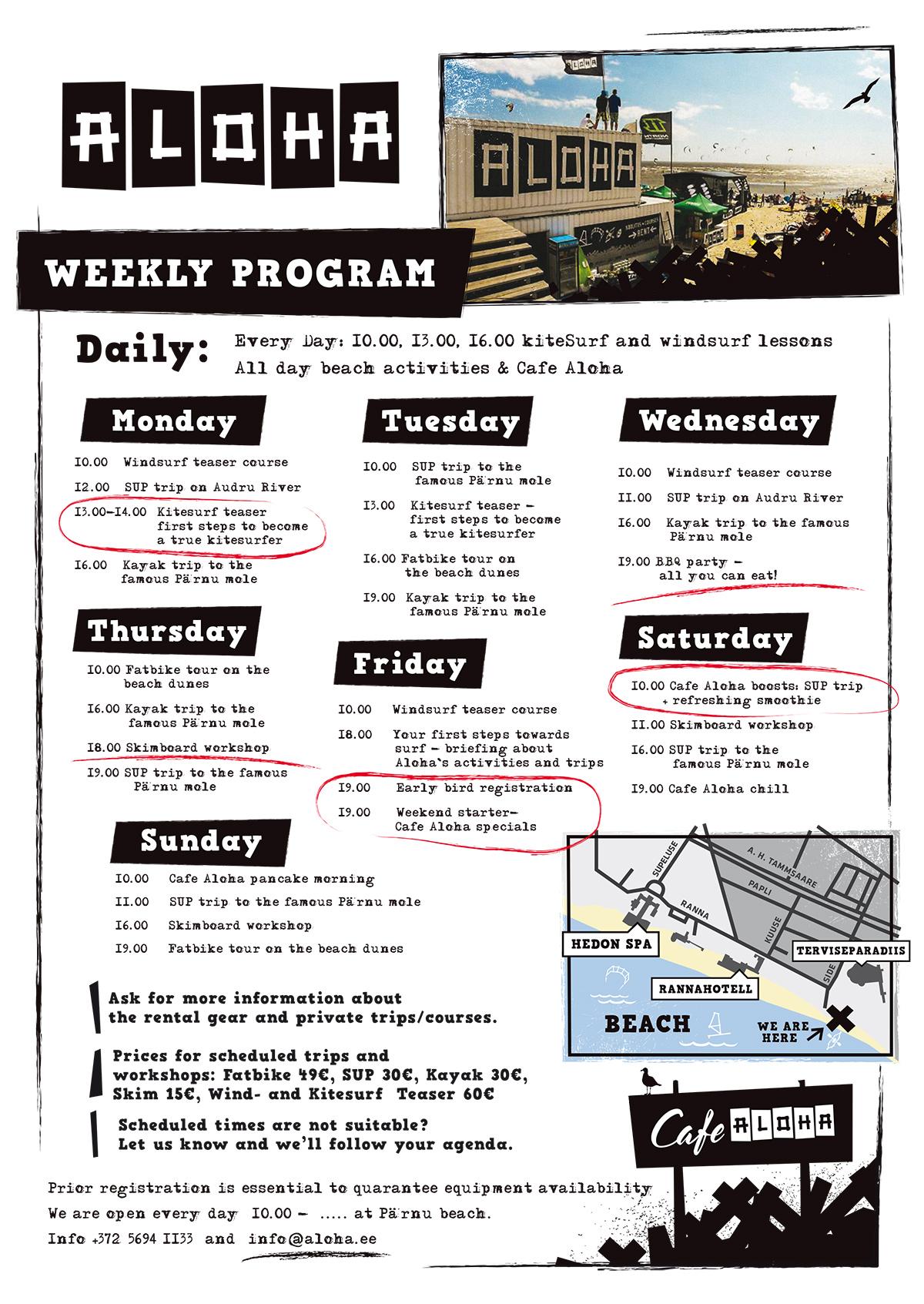 Aloha Weekly Program 2017